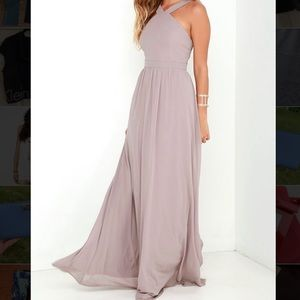 Lulu*s Air of Romance Bridesmaid Dress in Taupe